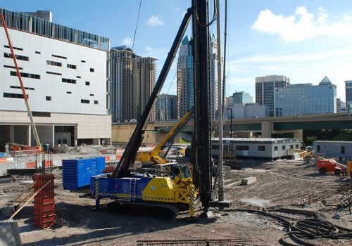 DeWaal Pile System Installation In Urban Environment