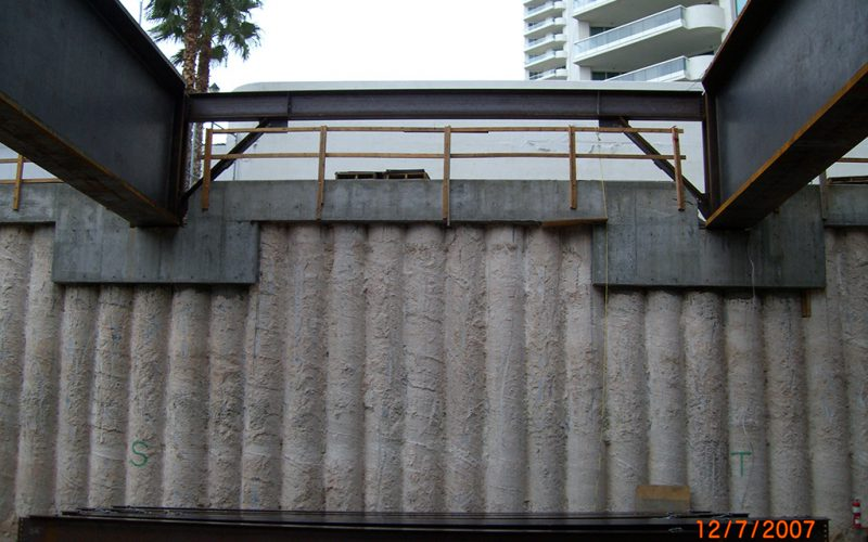 Secant Pile Wall Structure