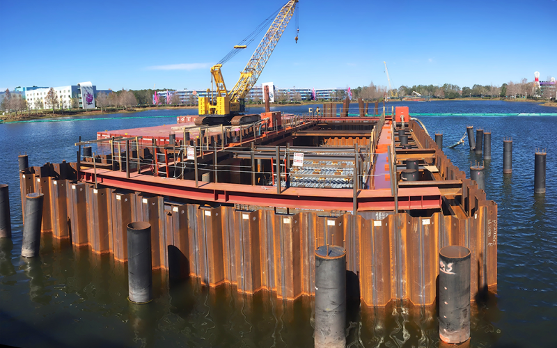 Morris-Shea Cofferdam Construction