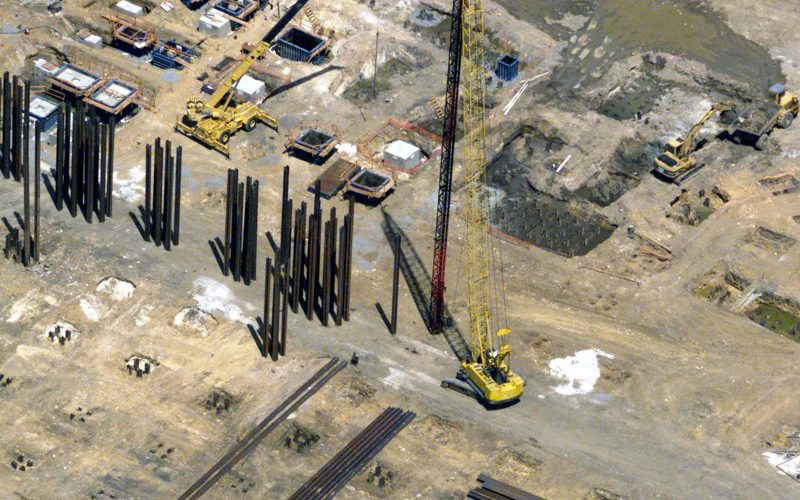 Wide Flange Beam Driven Pile