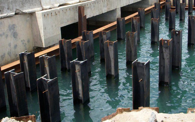Driven Pile Pier Construction