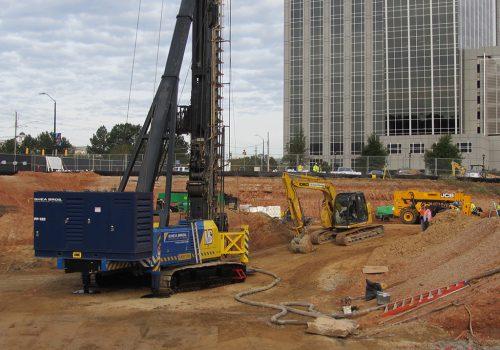 CFA Pile Construction Site