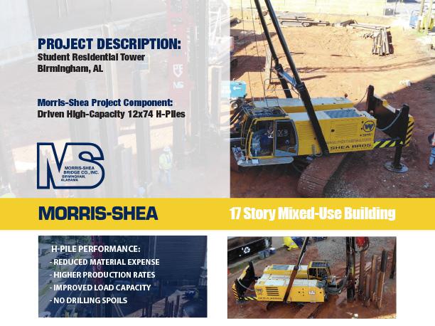Morris-Shea driven pile foundation project sheet - Birmingham highrise